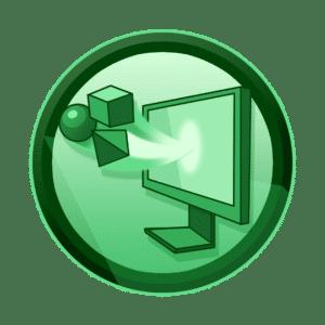 minitor iz kojega izlaze 3D geometrijski likovi, 3D animacija, explainer video, video produkcija, produkcija video sadržaja