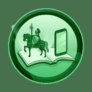 2D knjiga sa prikazom mobitela i konjanika koji izlazi iz knjige, virtualna i proširena stvarnost, VR, AR, XR, interaktivan sadržaj, interaktivni sadržaji