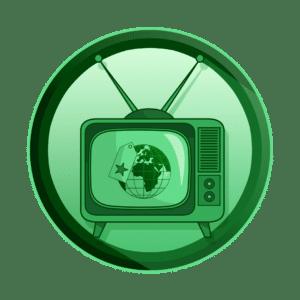 zemlja sa brand karticom na ekranu televizora, izgradnja branda, tv reklama, video produkcija, produkcija video sadržaja