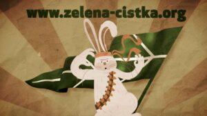 ratni zec u borbi za prirodu, kadar iz tv reklama zelena čistka, tv reklama, 2D animacija, video produkcija, kreativna agencija