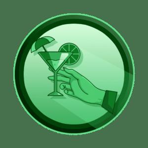 ruka koja drži koktel, pristupačnost i privlačnost, izrada maskota, kreativna agencija