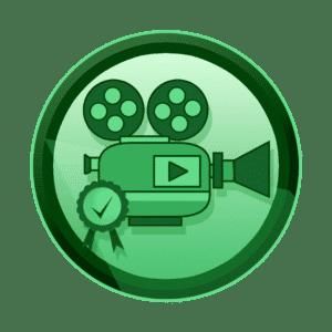 kamera sa play ikonom i medaljom za izvrsnost branda, branding video, promotivni film, video produkcija, produkcija video sadržaja