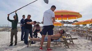 snimanje na setu na plaži, Valama Riviera d.d., reklamno filmski pristup, promotivni film, video produkcija, produkcija video sadržaja
