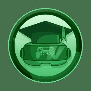 VR naočale sa odsjajem joysticka i maturalnom kapom, kroz igru se najbolje uči, virtualna i proširena stvarnost, VR, AR, XR, interaktivan sadržaj, interaktivni sadržaji