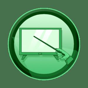 ruka sa prezentacijskim štapićem koja pokazuje na ekran, prezentacijski video u filmskom obliku, promotivni film, video produkcija, produkcija video sadržaja