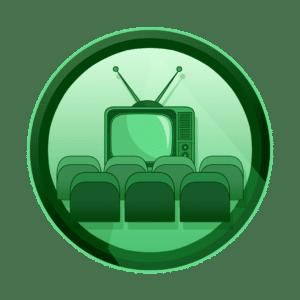 kino sa ekranom na starom televizoru, reklamno filmski pristup, video produkcija, produkcija