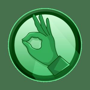 ruka koja pokazuje ok, ruka vegeta, vrhunska kvaliteta, kreativna agencija, kreativna rješenja